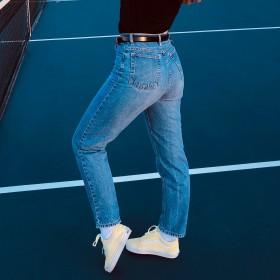 Jeans coupe droite femme