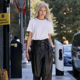 Pantalons en cuir femme