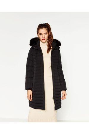 Femme Manteaux longs - Zara ANORAK LONG AVEC CAPUCHE