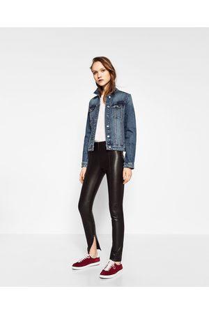 pantalon simili cuir zara woman premium