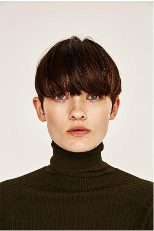 Femme Pulls en maille - Zara PULL À COL MONTANT CÔTELÉ - Disponible en d'autres coloris