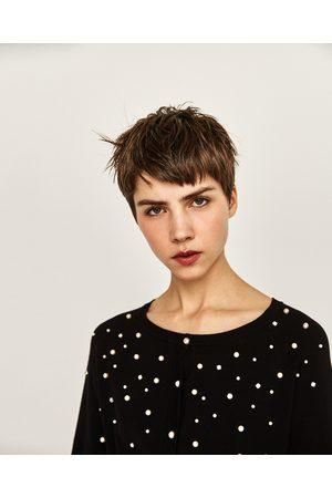 Femme Pulls - Zara PULL FANTAISIE À PERLES - Disponible en d'autres coloris