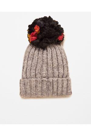 Femme Bonnets - Zara BONNET EN MAILLE À POMPON SUPERSIZE