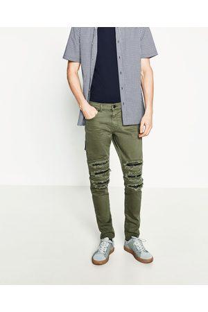 Dechire Jeans Homme De Couleur Vert - Comparez Et Achetez