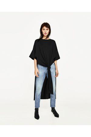 t shirt long femme zara