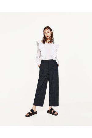 Femme Pantalons - Zara PANTALON À CARREAUX AVEC PINCES