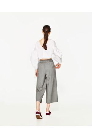 Femme Pantalons - Zara PANTALON CROPPED IMPRIMÉ