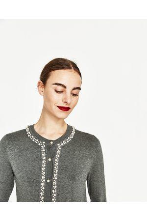 Femme Vestes - Zara VESTE AVEC FINITIONS DE PERLES - Disponible en d'autres coloris