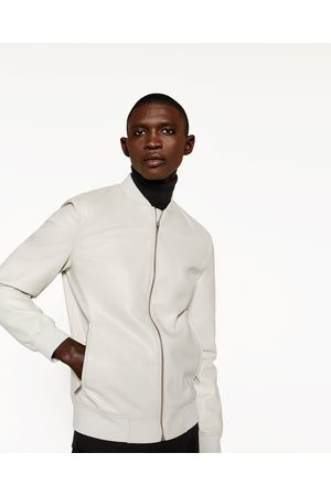 Homme Vestes en cuir - Zara BLOUSON BOMBER EN SIMILI CUIR - Disponible en d'autres coloris