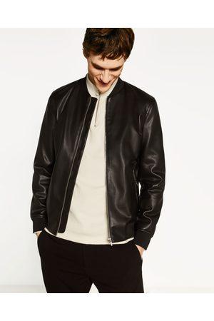 Zara veste en cuir homme
