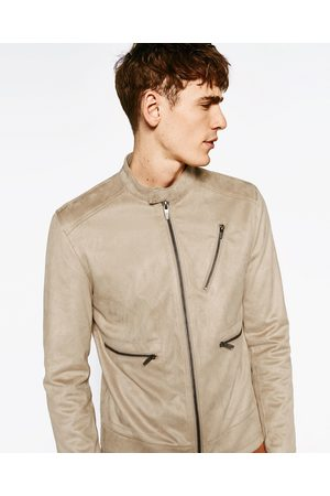 Homme Vestes en cuir - Zara BLOUSON DE MOTARD EN SUÉDINE