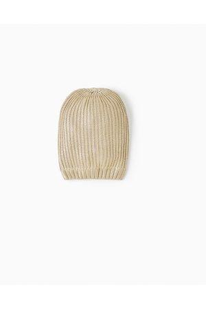 Acheter Bonnets   chapeaux fille de couleur or en Ligne   FASHIOLA ... eb894506706