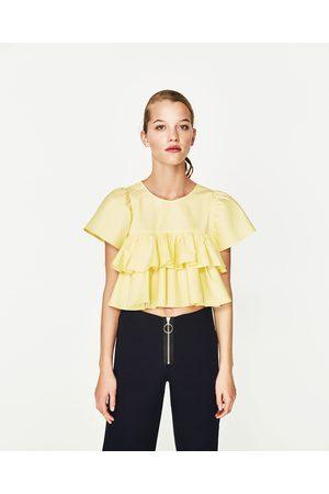 Femme Chemises - Zara FRILLED SLEEVE TOP