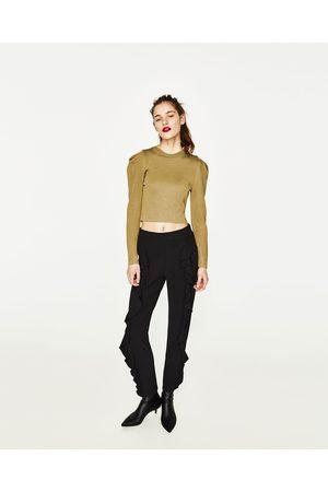 Femme Pantalons - Zara PANTALON AVEC VOLANTS DEVANT