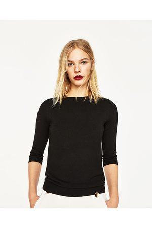 Femme Pulls - Zara PULL AVEC PERLES DANS LE DOS - Disponible en d'autres coloris