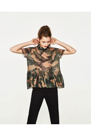 tee shirt camouflage femme zara