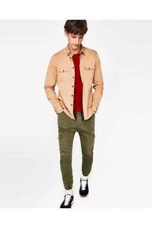 pantalon vert kaki homme zara