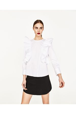 Femme Shorts - Zara JUPE SHORT AVEC BORDURE - Disponible en d'autres coloris