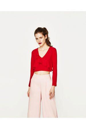 Femme Chemises - Zara TOP COURT À VOLANTS