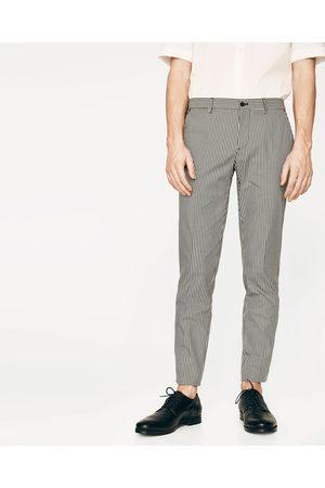 pantalon carreaux homme slim zara