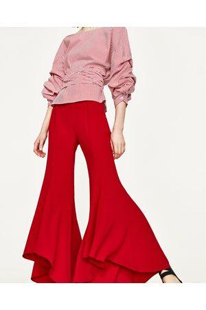Femme Pantalons bootcut - Zara PANTALON FLARE ASYMÉTRIQUE