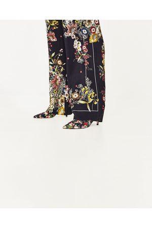Femme Pantalons larges - Zara PANTALON LARGE TYPE PYJAMA