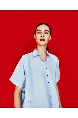 Femme Chemises - Zara CHEMISE OXFORD À VOLANTS