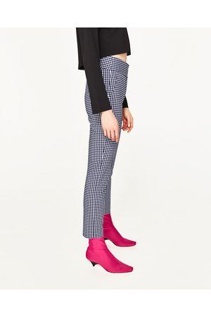 Femme Pantalons - Zara PANTALON À CARREAUX TAILLE HAUTE