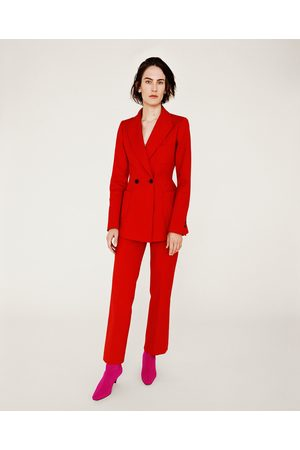 Femme Pantalons coupe droite - Zara PANTALON DROIT 7/8