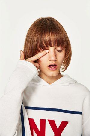 Femme Sweatshirts - Zara SWEAT À INSCRIPTION AVEC CAPUCHE