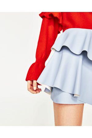 Femme Mini-jupes - Zara MINI JUPE À VOLANT EFFET CUIR - Disponible en d'autres coloris