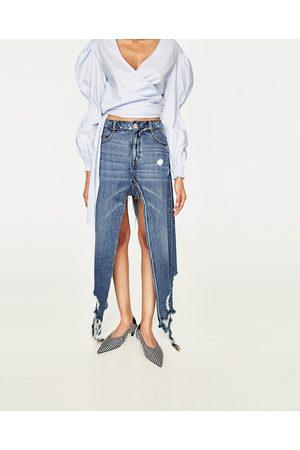 Femme Jupes en jean - Zara JUPE-PANTALON EN JEAN À FENTES
