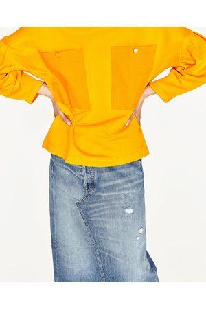 Femme Sweatshirts - Zara SWEAT AVEC MANCHES BOUFFANTES - Disponible en d'autres coloris