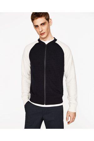 Homme Vestes - Zara TWO-TONE QUILTED BOMBER JACKET - Disponible en d'autres coloris