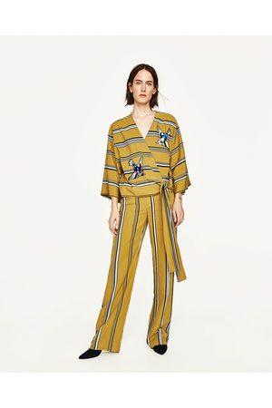 Femme Pantalons larges - Zara PANTALON LARGE À RAYURES