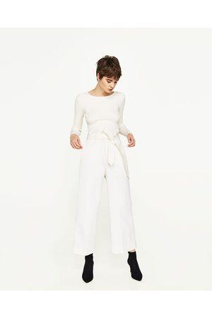 Femme Pantalons larges - Zara PANTALON LARGE AVEC CEINTURE