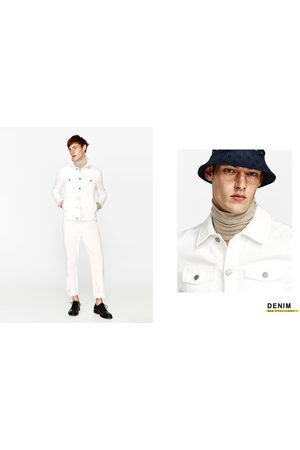 Homme Vestes en jean - Zara BLOUSON EN JEAN EN MOLLETON - Disponible en d'autres coloris