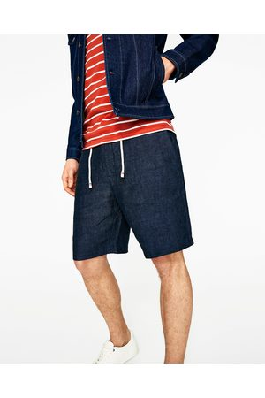 Homme Bermudas - Zara BERMUDA EN LIN AVEC LACET - Disponible en d'autres coloris