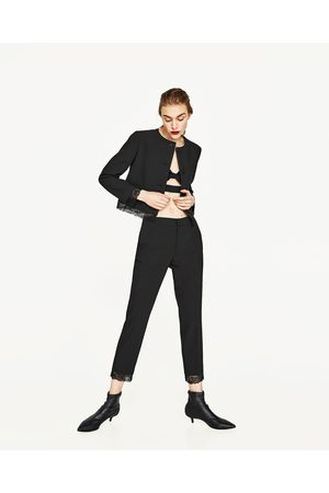 Femme Pantalons - Zara PANTALON 7/8 EN MATIÈRES ASSORTIES