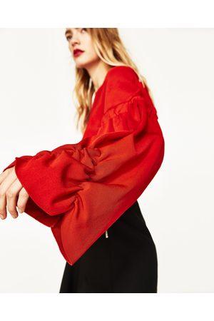 Femme Pulls - Zara PULL COURT AVEC MANCHES BOUFFANTES - Disponible en d'autres coloris