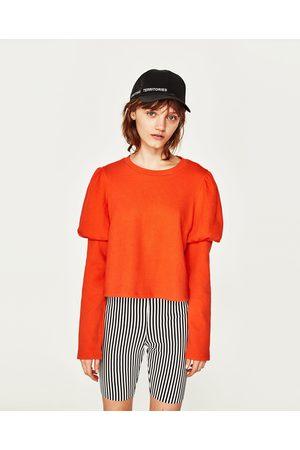 Femme T-shirts - Zara T-SHIRT AVEC MANCHES BOUFFANTES