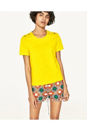 t shirt jaune femme zara