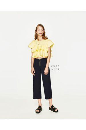 Femme Pantalons larges - Zara PANTALON LARGE À ZIP