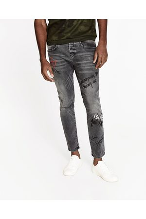 Homme Pantalons Slim & Skinny - Zara PANTALON SLIM À IMPRIMÉS