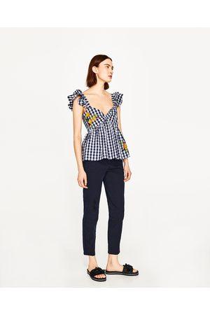 Pantalon Chino Femme Zara