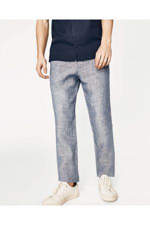 Homme Pantalons - Zara PANTALON BASIQUE EN LIN - Disponible en d'autres coloris