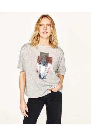 7f24628b29f Tops   t-shirts femme paillettes Zara - comparez et achetez