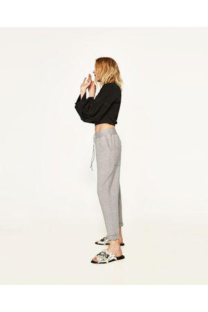 pantalon style jogging femme zara