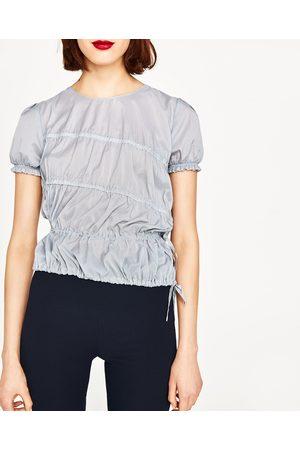 Femme Tops & T-shirts - Zara TOP AVEC FRONCES ÉLASTIQUES