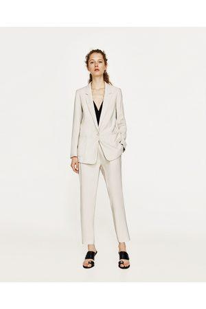 Femme Pantalons larges - Zara PANTALON 7/8 FLUIDE - Disponible en d'autres coloris